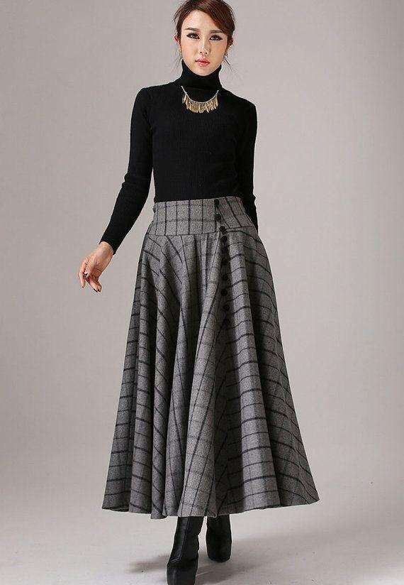 Chân váy công sở nổi bật mùa thu đông